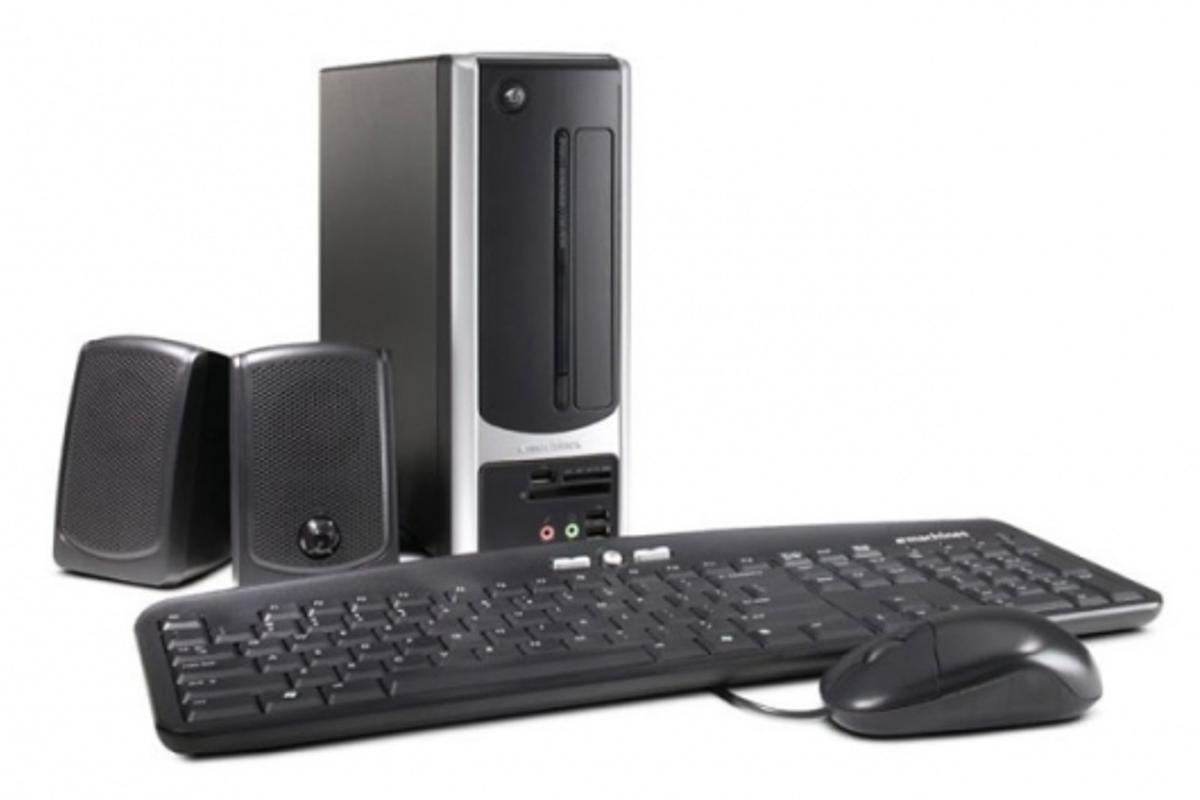 The 'fit anywhere' eMachine EL1200 Desktop Series PC.