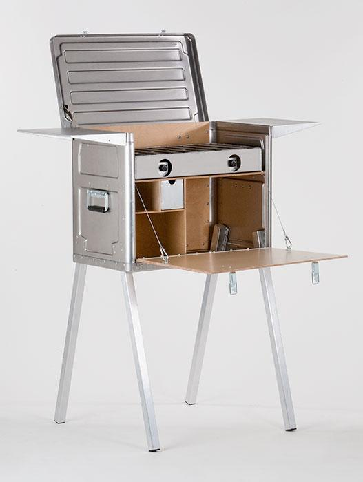 The Field Kitchen is a single unit that combines much of what is needed for cooking on camping trips (Photo: Kanz Outdoors)