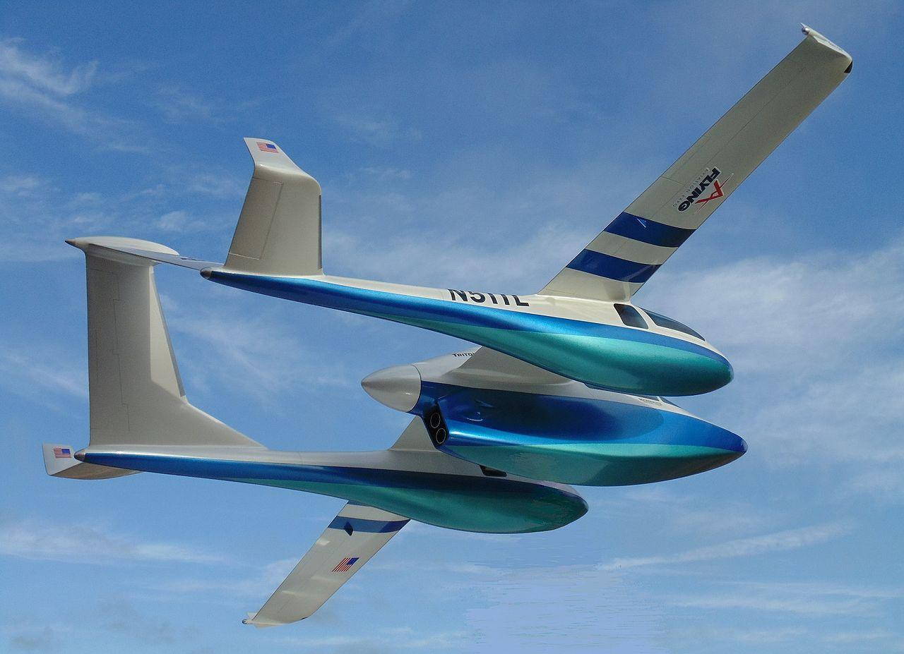 With a 42-foot wingspan, the Triton will be powered by a 450-horsepower Rolls Royce turboprop