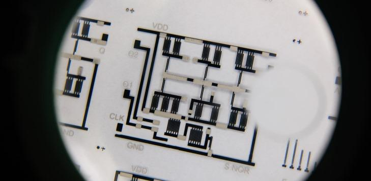 Some of the printed circuits, perhaps coming to a milk carton near you