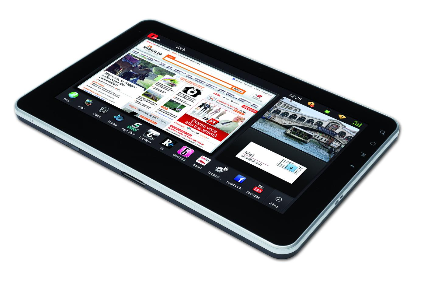 Olivetti has announced Italy's first entry into the tablet market - the Android-based OliPad 100
