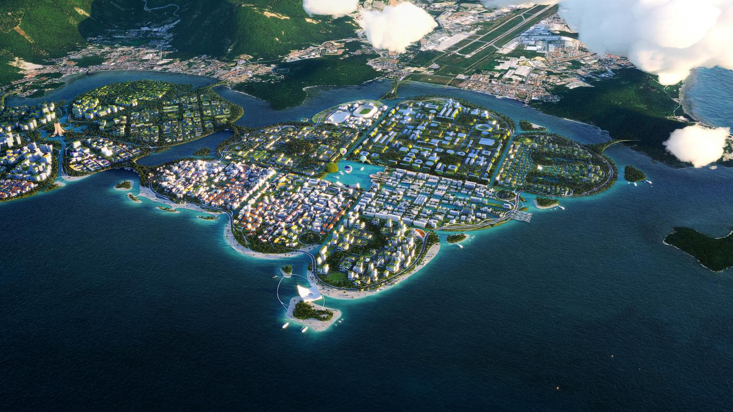 BiodiverCity's first planned island is called The Channels. It would include areas for research, development and local businesses. Elsewhere would be a large wave pool, technology park, a government center, and a cultural area