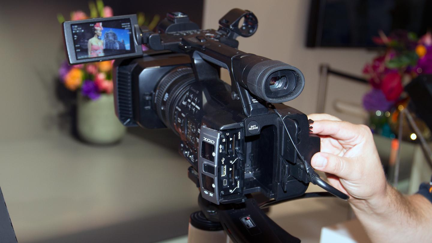 Some of the camera's more professional features include dual stereo XLR external mic jacks, dual memory card slots that allow users to change one card while the other is recording, four neutral density filter settings, and the ability to manually control a number of key shooting parameters
