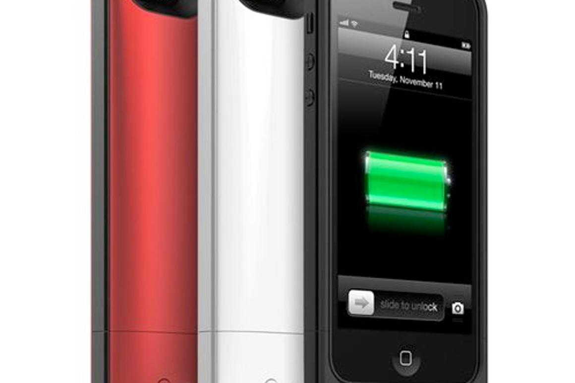 The mophie juice pack air in its three color choices
