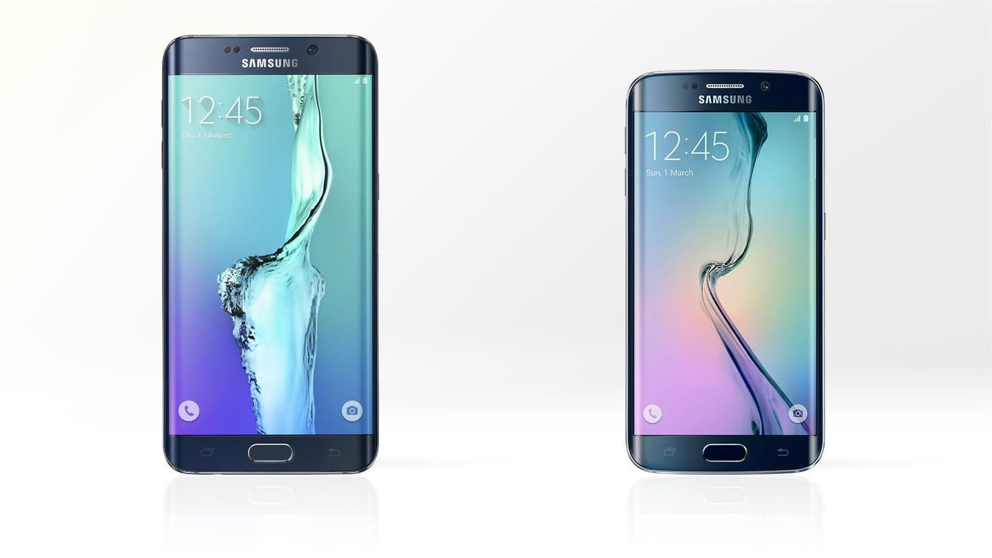 Gizmag compares the features and specs of the Samsung Galaxy S6 edge+ (left) and the standard Galaxy S6 edge