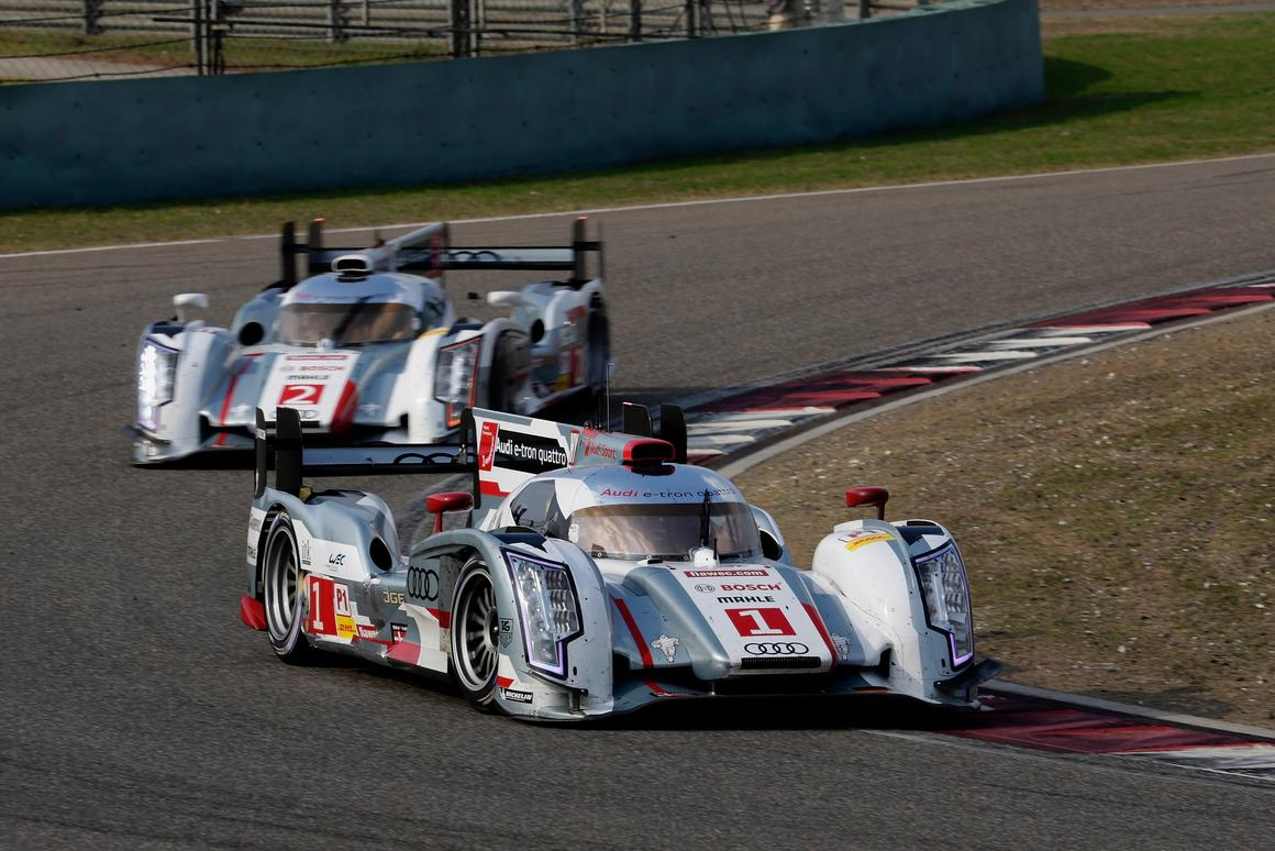 For the 2014 season, Audi's R18 e-tron will be running a mid-engine V6 TDI with not one but two hybrid power systems on board