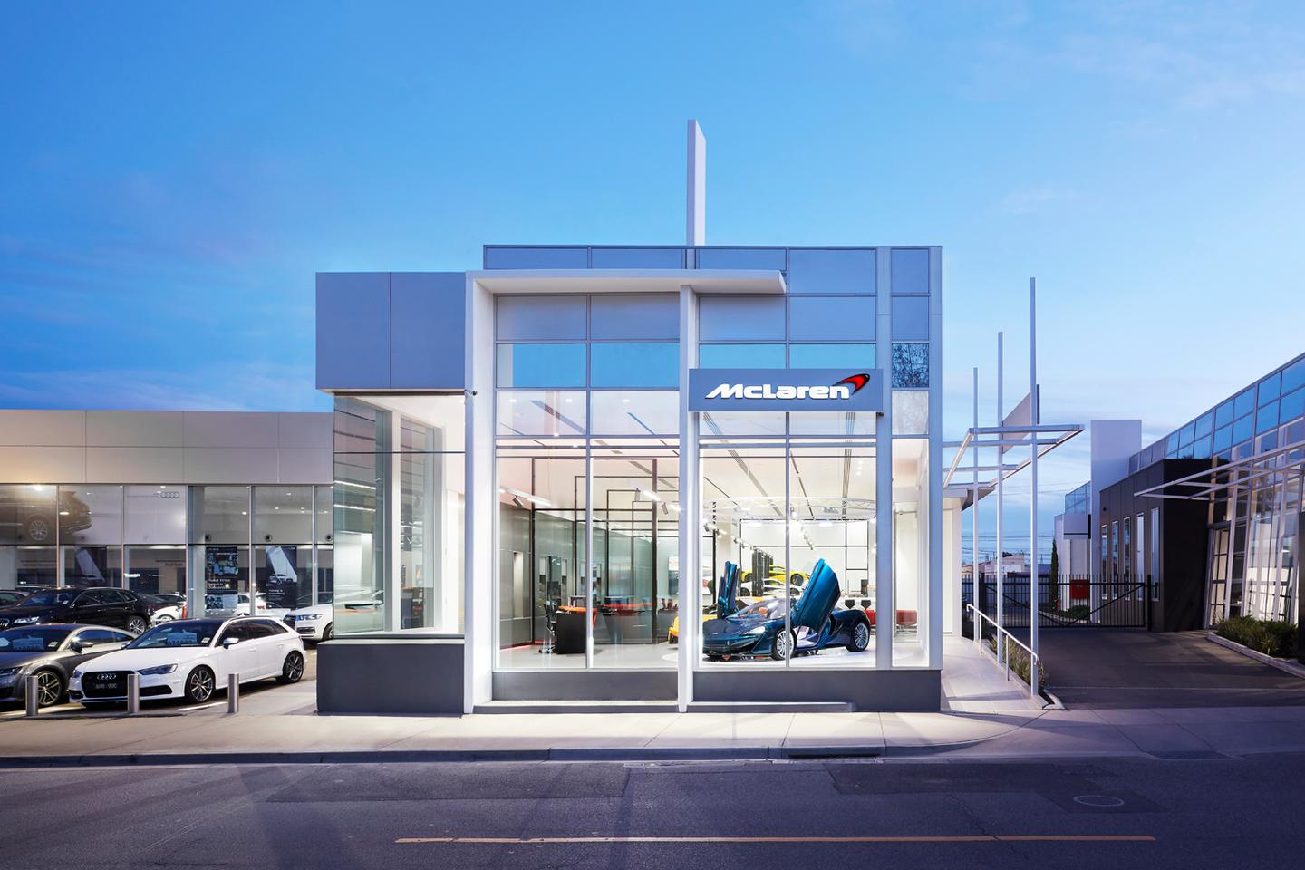 The new McLaren dealership on Swan St in Richmond