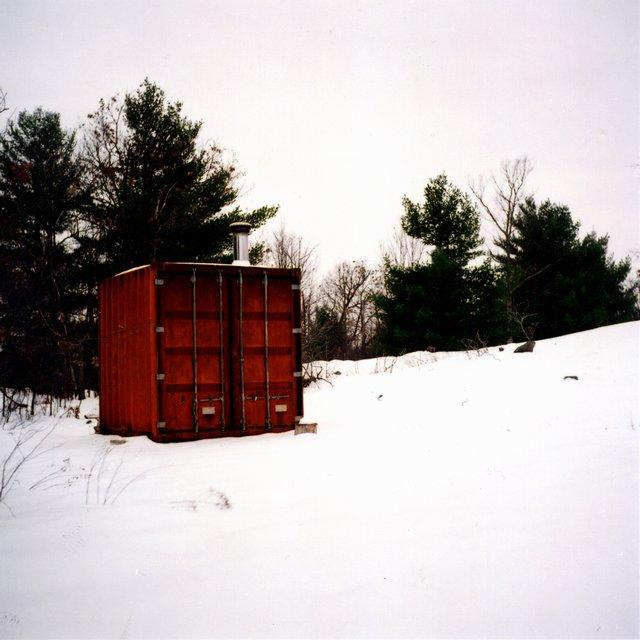 When Sauna Box is not being used it looks just like any other shipping container