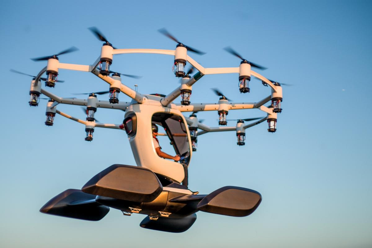 The Hexa will land on four large floats, suitable for ground or water landings
