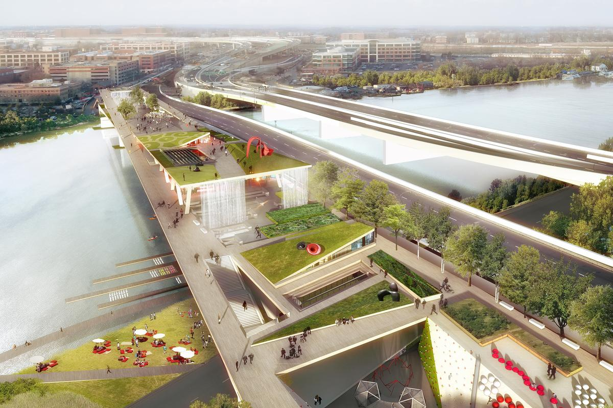 OMA and OLIN's 11th Street Bridge Park proposal