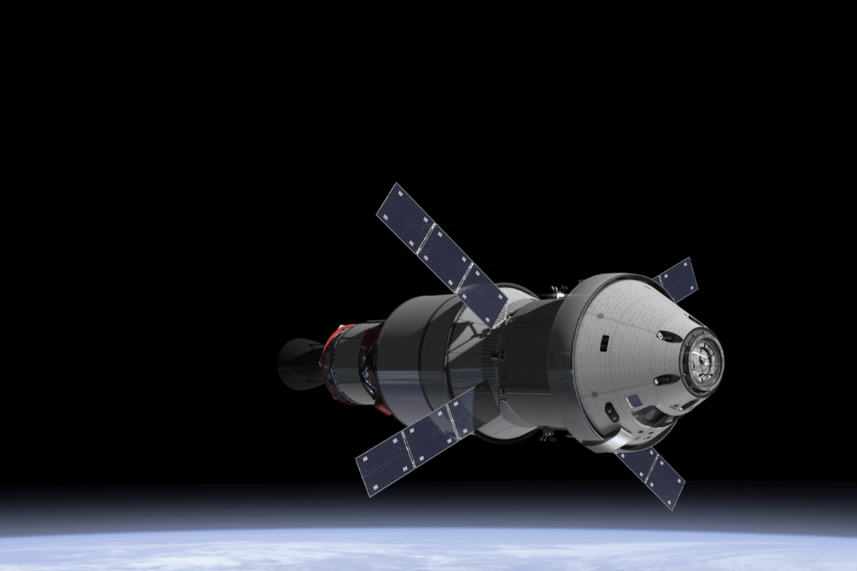 Artist's impression of the Orion spacecraft in orbit, having separated from the Delta IV launch vehicle (Image: NASA)