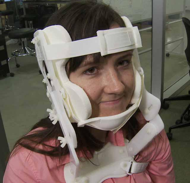 The HeadCase cervical collar prototype
