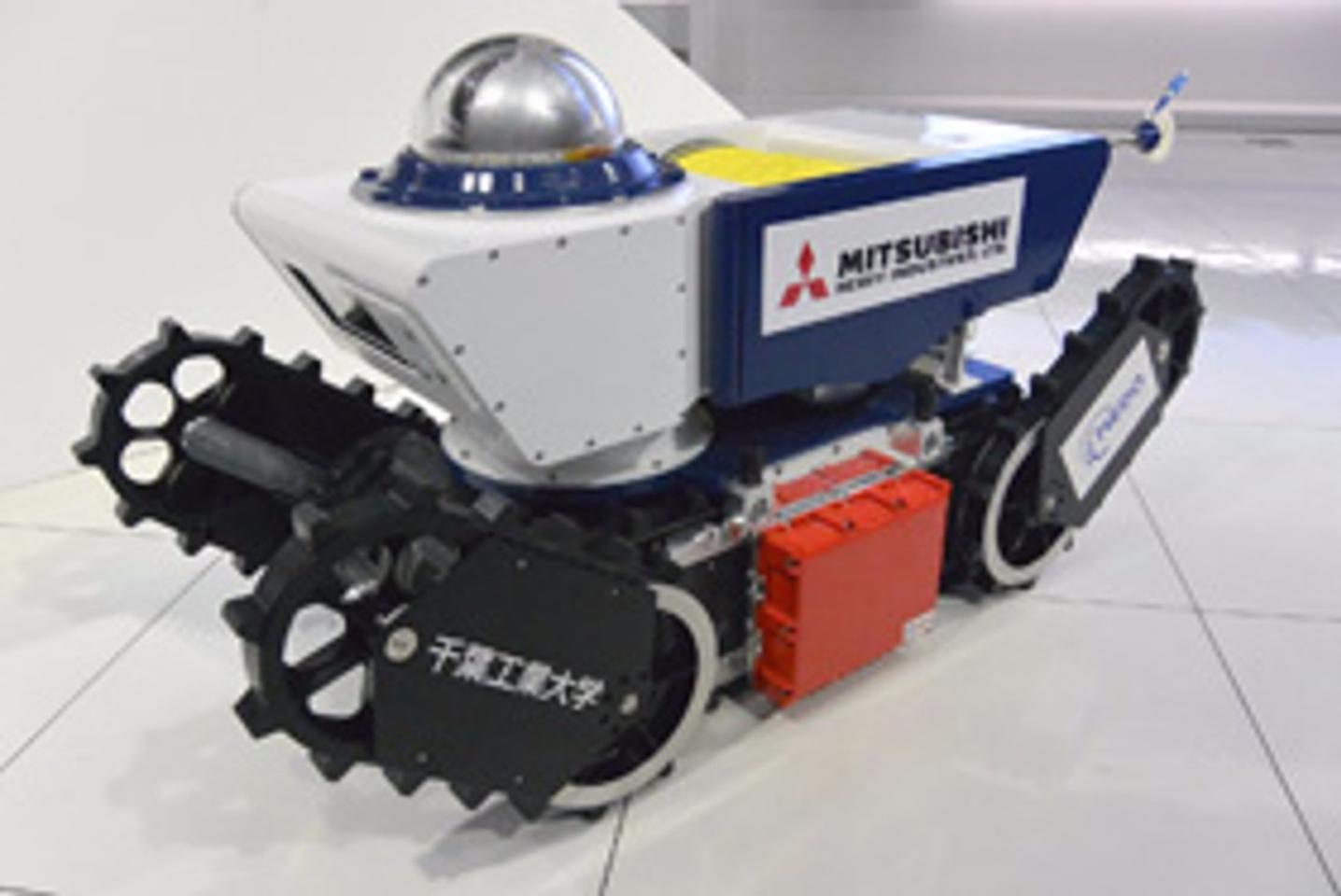 The robot uses positive pressure and a gas-tight hull to keep explosive gases away from the robot's electrics