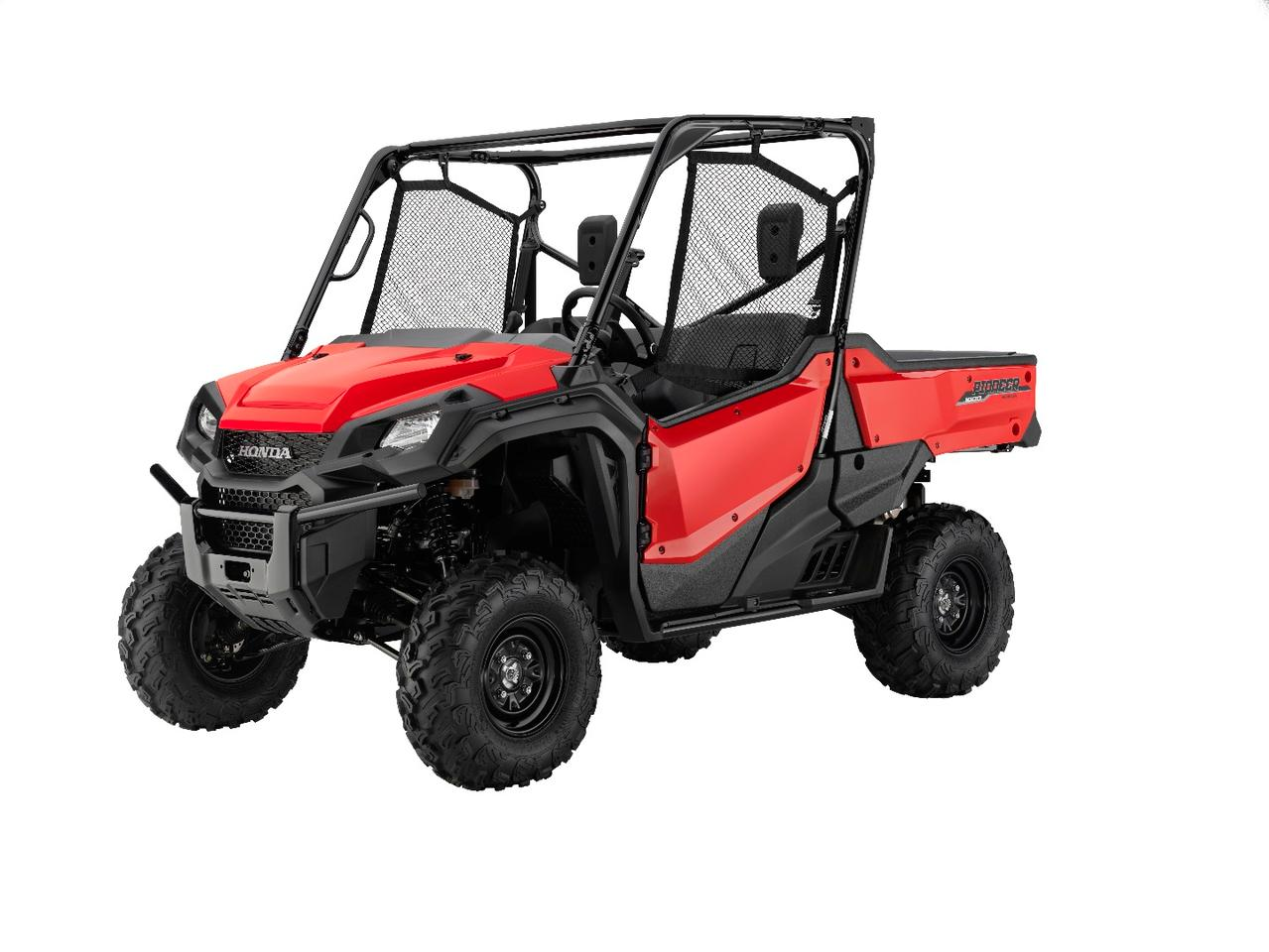 The Honda Pioneer 1000 EPS is a three-seat UTV with power steering and paddle shifting
