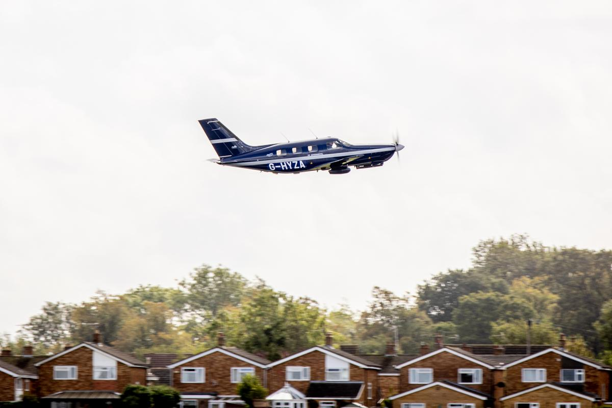The first flight of the hydrogen-fuel-cell-powered Piper M-class