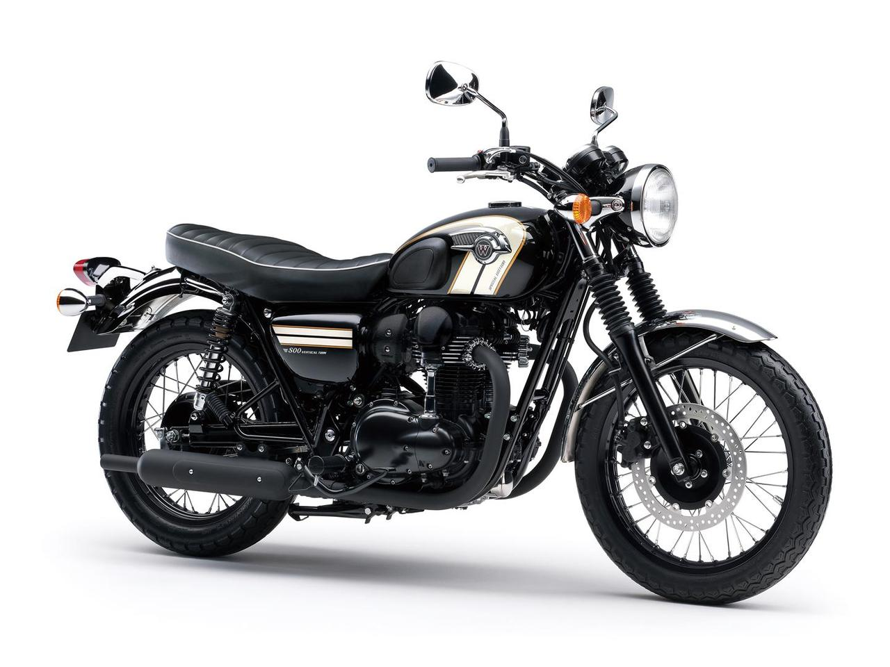 The blackened Special Edition W800 is part of Kawasaki's 2016 line-up