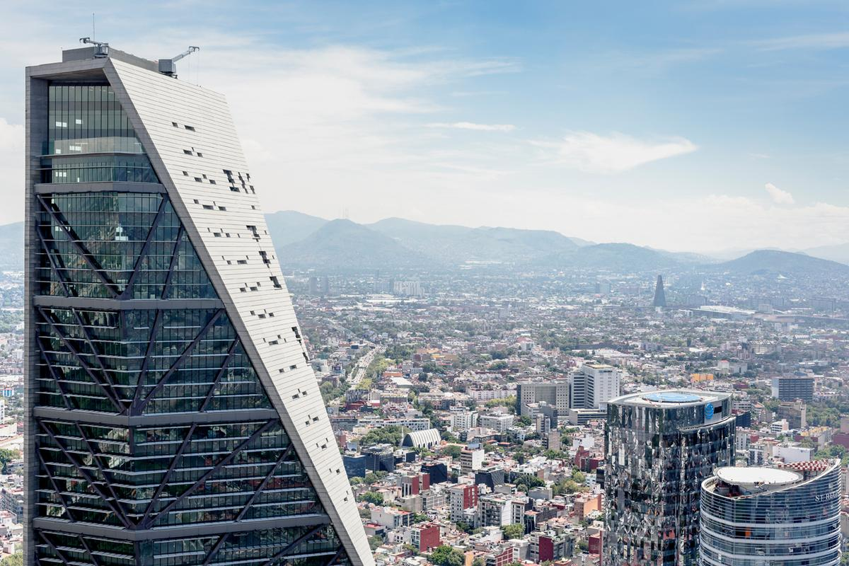 Torre Reforma is Mexico City's tallest building and rises to a height of 809 ft (246 m)