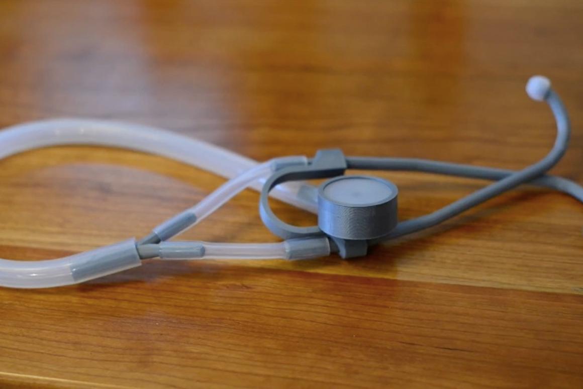 The Glia model 3D-printed stethoscope