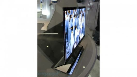 LG's prototype 15-inch OLED TV on show at CES 2009Pic credit: engadget