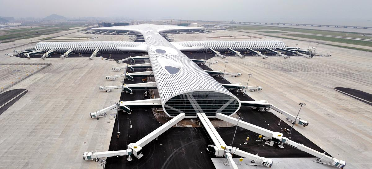 Shenzhen Bao'an International Airport Terminal 3, designed by Studio Fuksas (Photo: Studio Fuksas)
