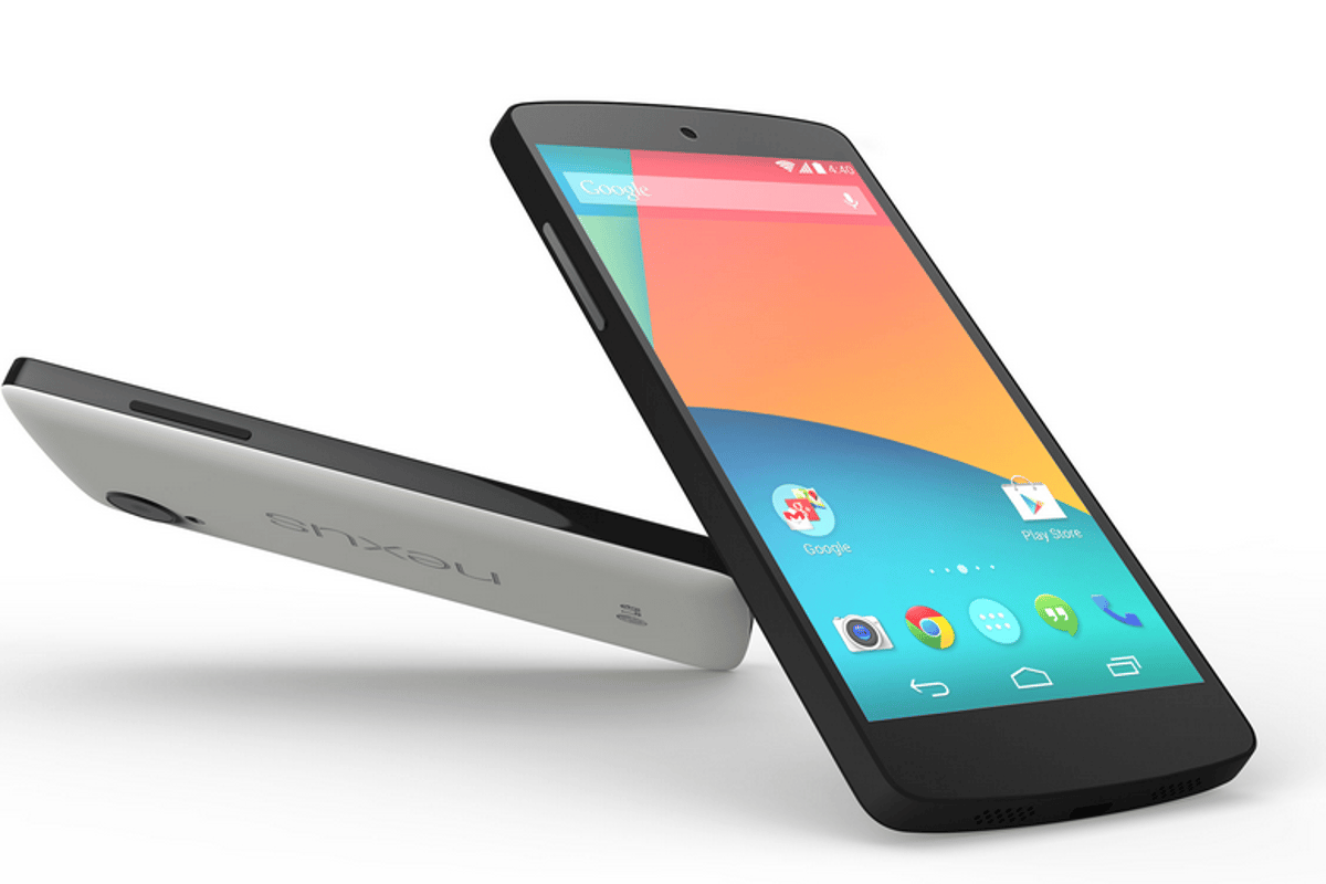 The Nexus 5 comes in black or white with 16 or 32 GB