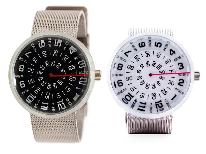 The Visus Watch from Mykonos Design features a stationary hand capable of accurately telling the time
