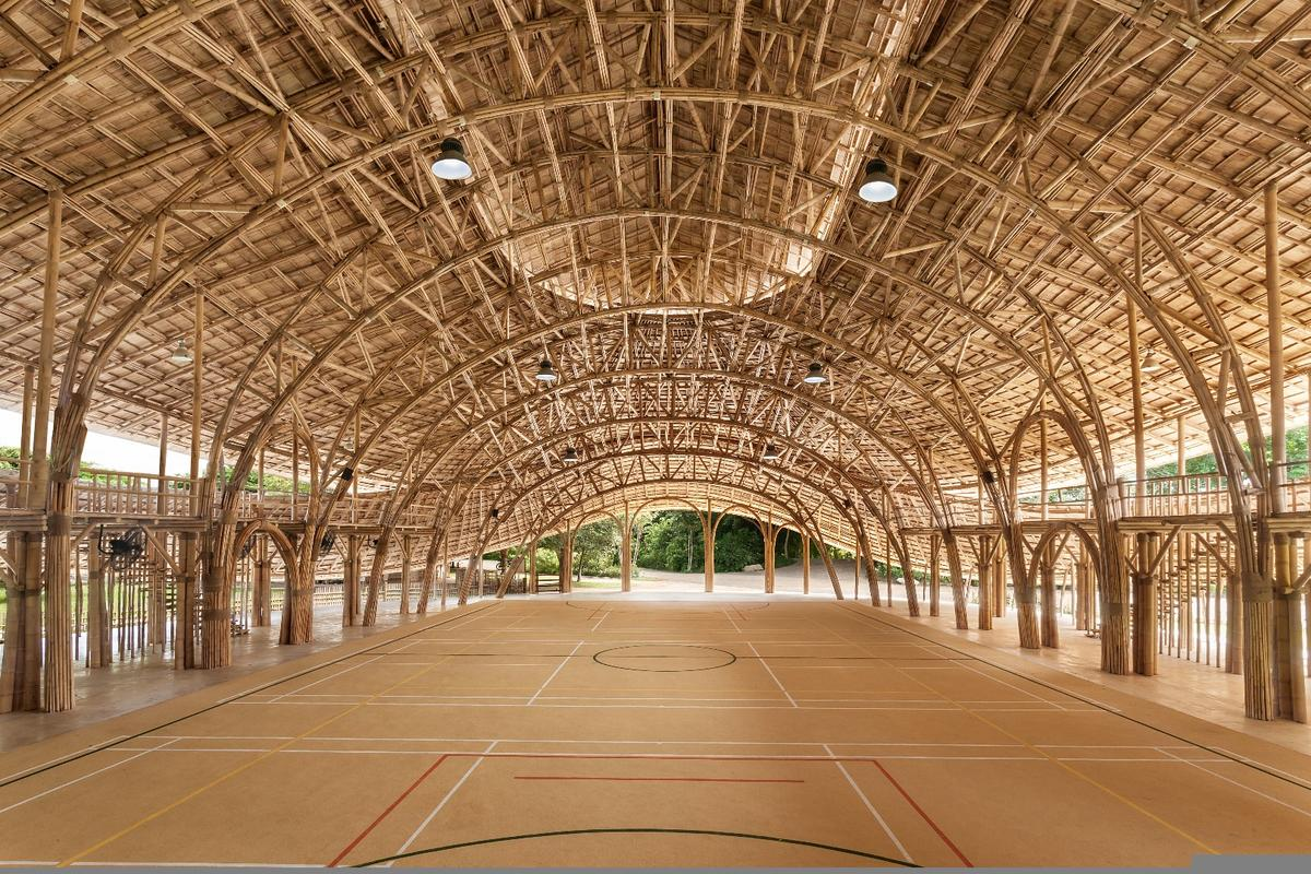 The Bamboo Sports Hall at Panyaden International School entered use this year