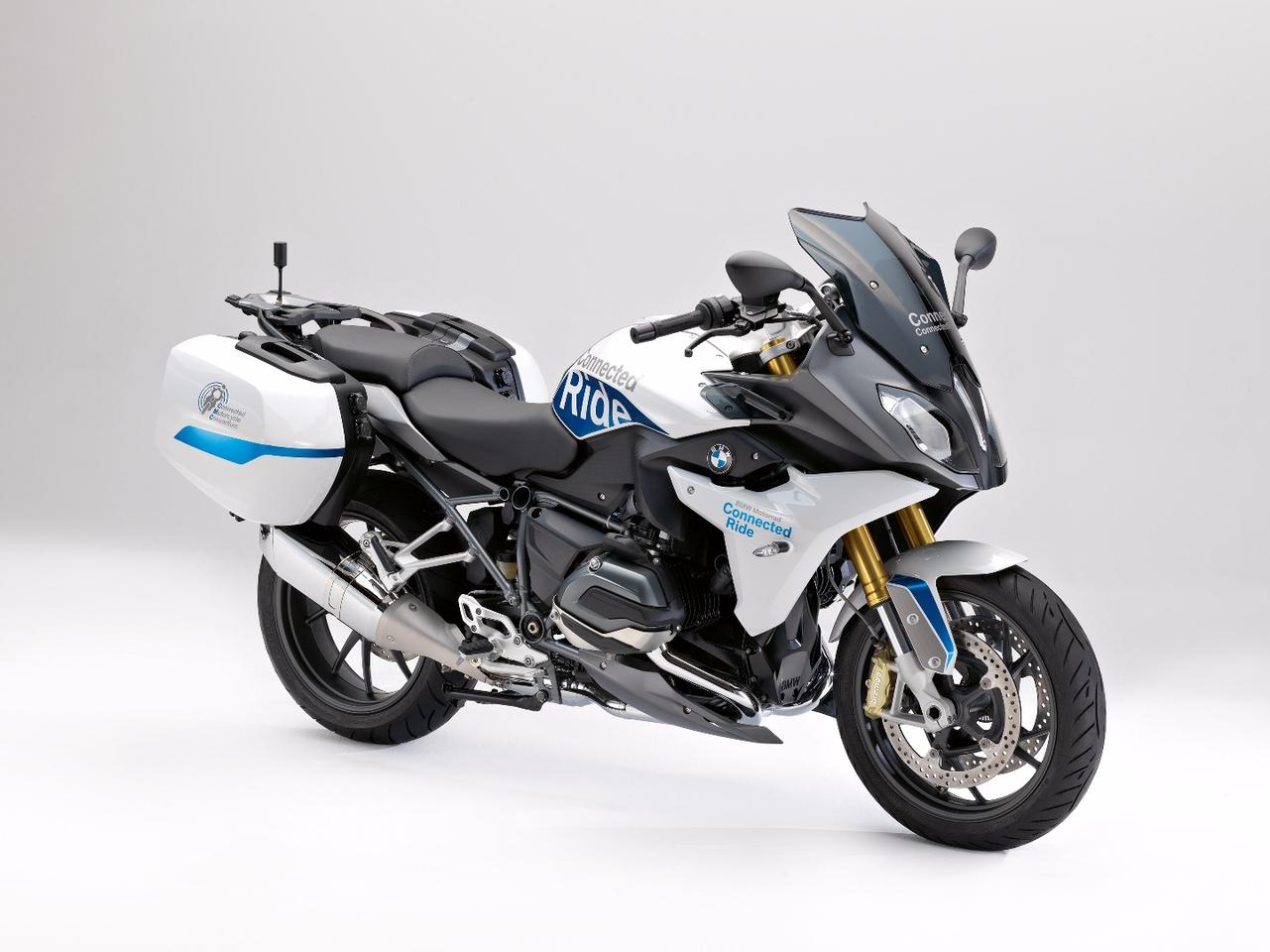 The BMW R1200RS ConnectedRide is a prototype designed for future Cooperative Intelligent Transportation Systems