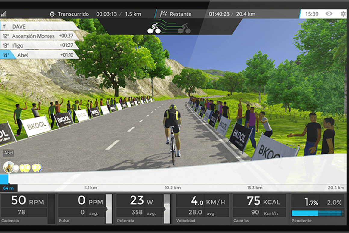 Bkool simulator creates any animated cycling route you want