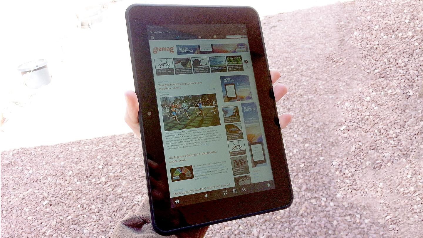 "I was able to grip the Kindle Fire HD 8.9"" with one hand"