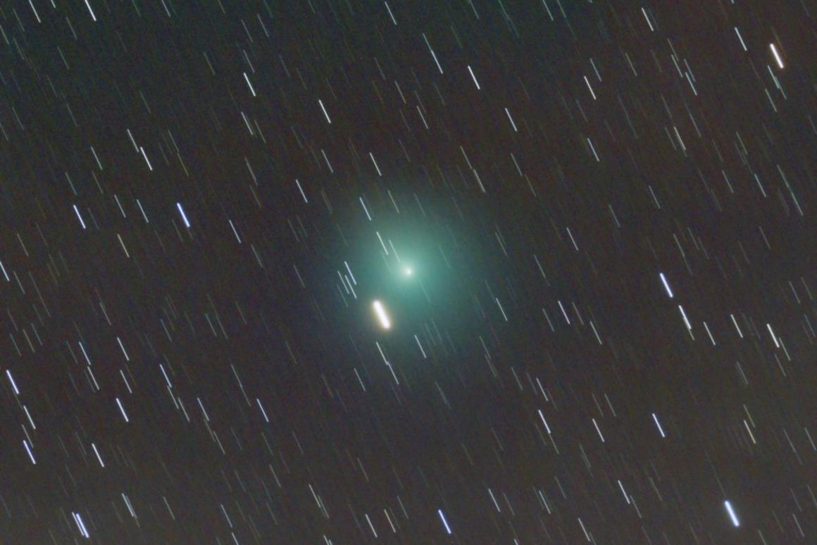 At closest approach,46P/Wirtanen, seen above, will pass just 30 lunar distances from Earth