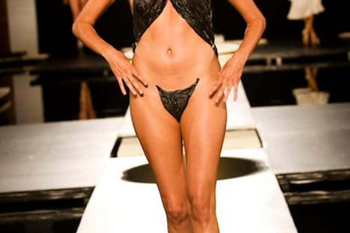 Compostable bikini by Linda Loudermilk