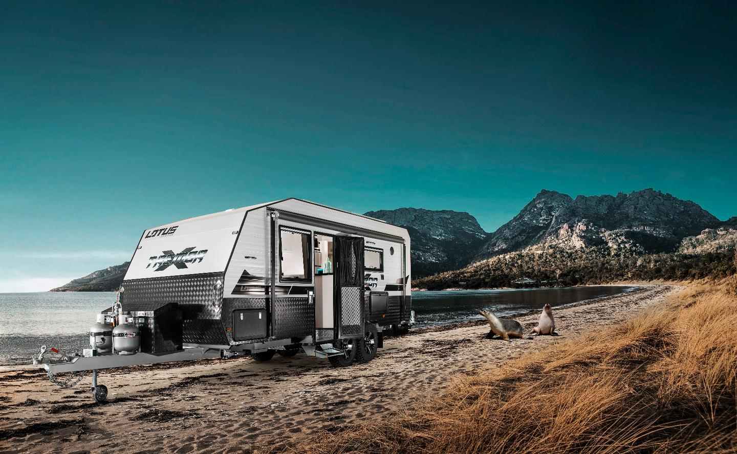 Lotus Caravans' Tremor combines exterior ruggedness with interior comfort