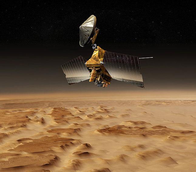 Artist's concept of the Mars Reconnaissance Orbiter (Image: NASA)