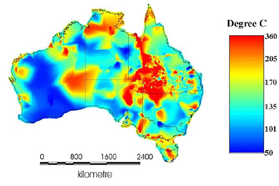 Temperature readings taken in existing oil and gas bore holes indicate a huge amount of geothermal energy below the surface of Australia.