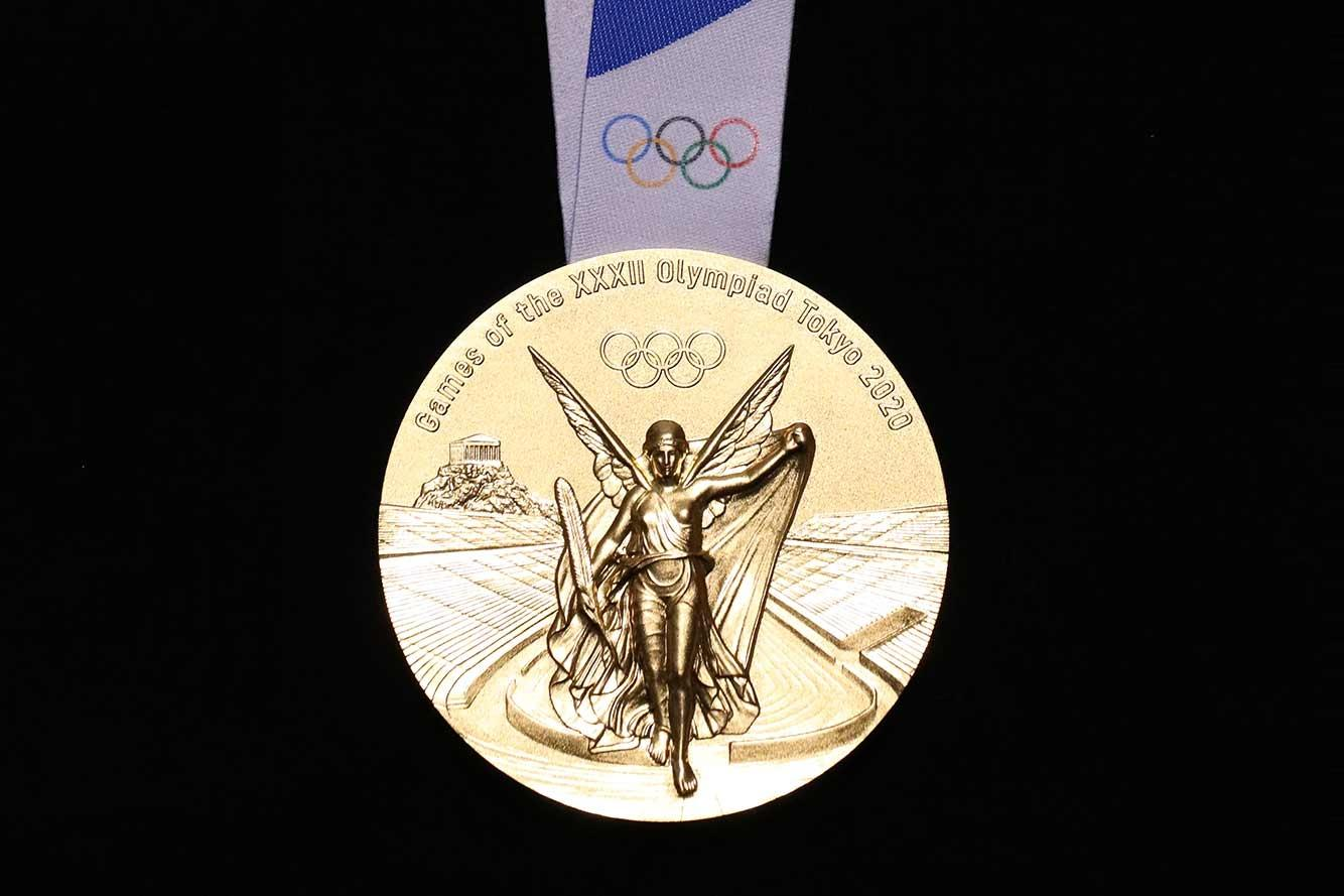 Front of the Tokyo 2020 Olympic gold medal