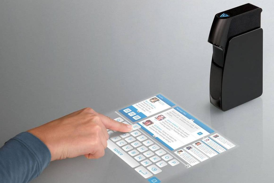Light Touch transforms a projected image into a virtual 10-inch touch screen