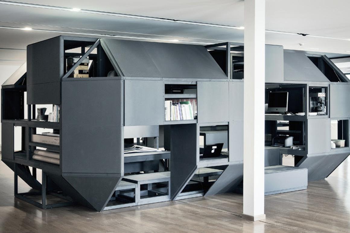 The Verbandkammer modular workspace by Nilsson Pflugfelder