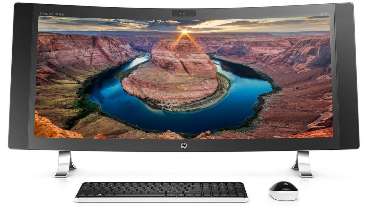 According to HP, the new Envy machine is the world's widest curved all-in-one