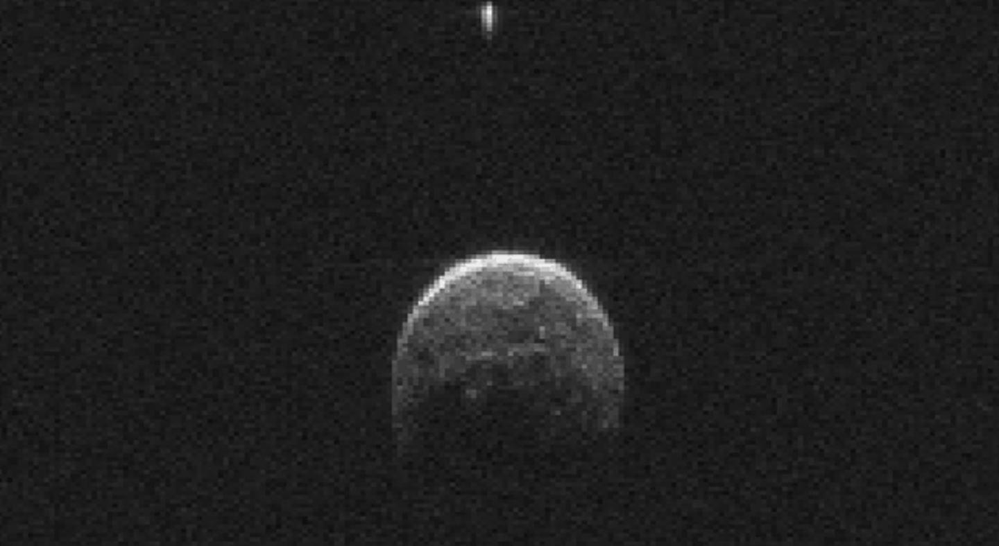 Asteroid 2004 BL86 and its moon (Image: NASA)