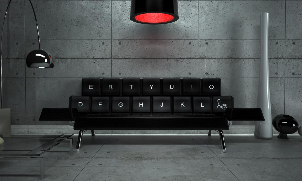 The QWERTY sofa bed concept by ZO_loft is modeled after a computer keyboard and can be customized by adjusting each key's height