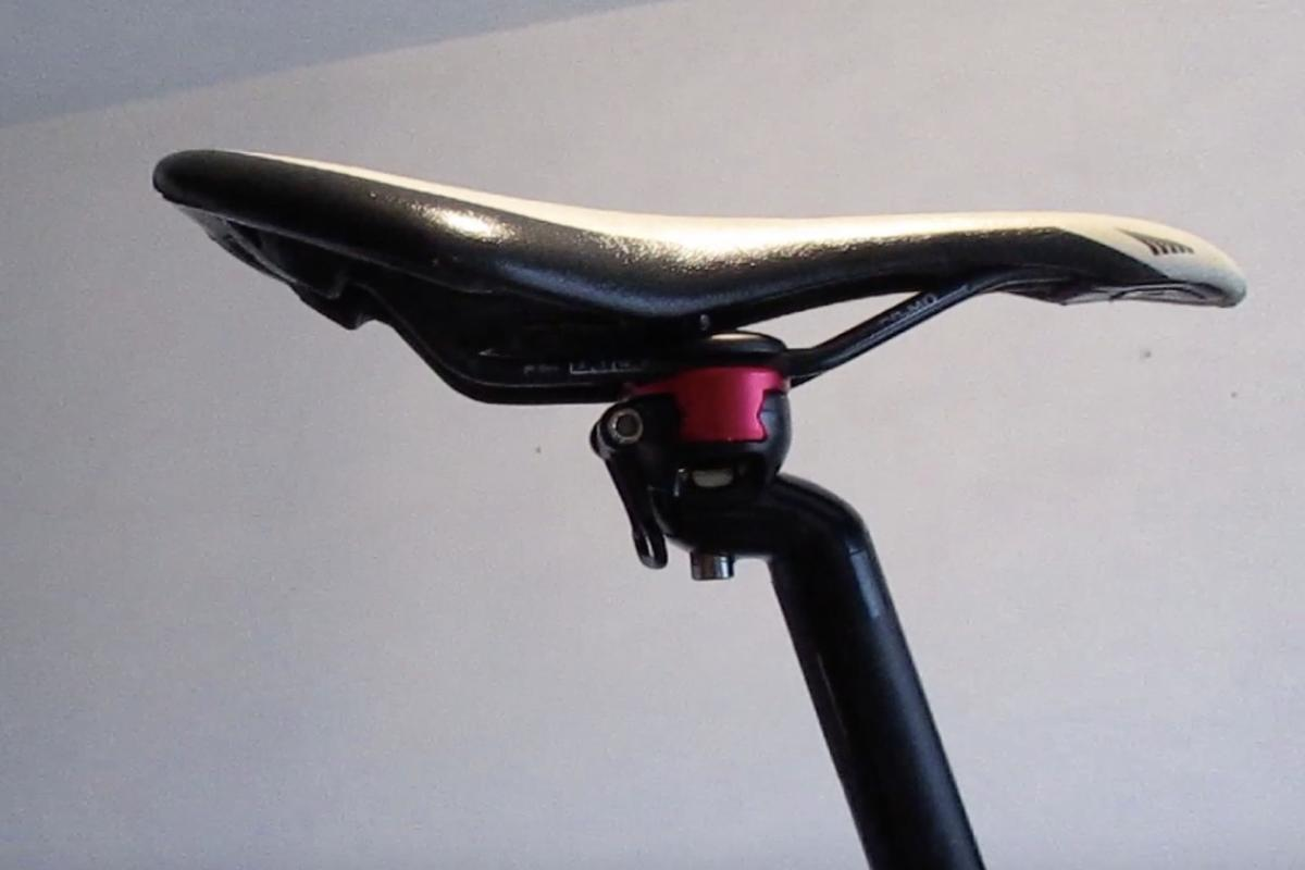 The Quick Release Seatpost engages and disengages the saddle within a few seconds