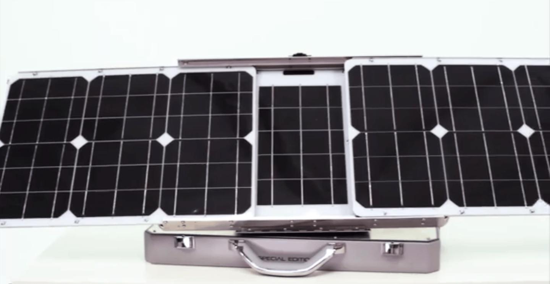 The SunSocket uses mono-crystalline solar panels