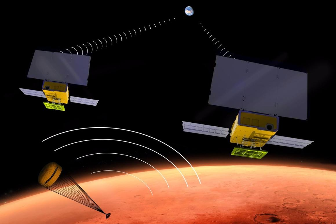 Artist's concept of the interplanetary CubeSat