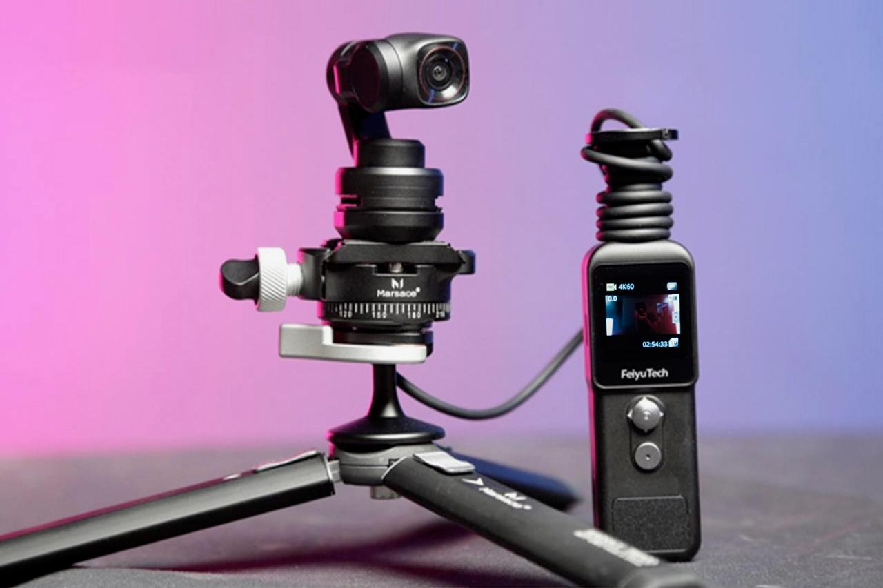 The Feiyu Pocket 2S is presently on Indiegogo (the mini tripod is an optional extra)