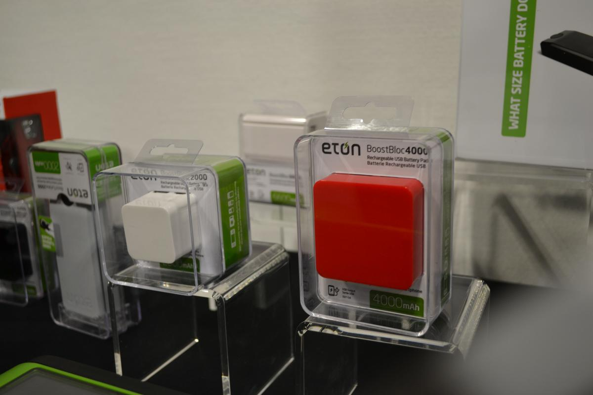 Eton Corporation launched the BoostTurbine and BoostBloc USB battery packs from the Power Boost range at IFA 2012 in Berlin