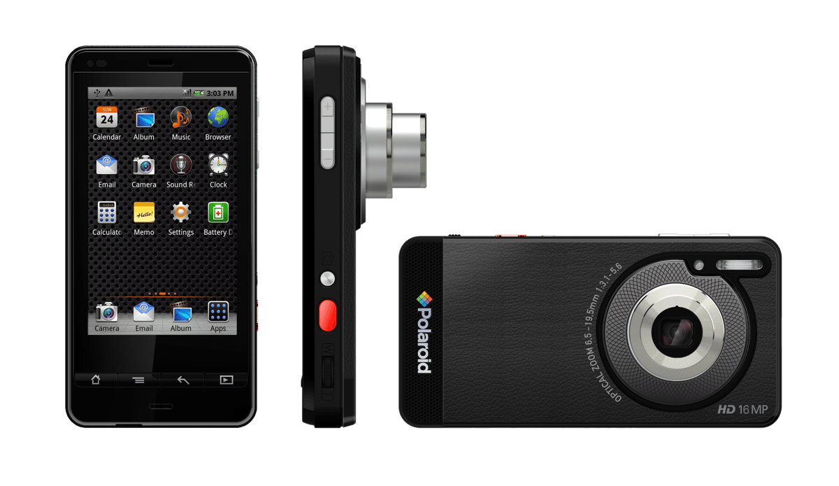 Polaroid's SC1630 Smart Camera is powered by Android and features a smartphone-like form factor
