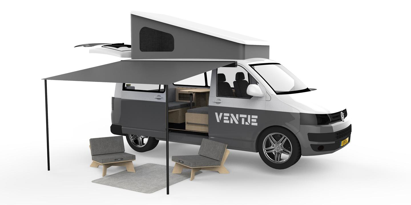 Dutch brand Ventje offers a camper van that provides an indoor/outdoor living space