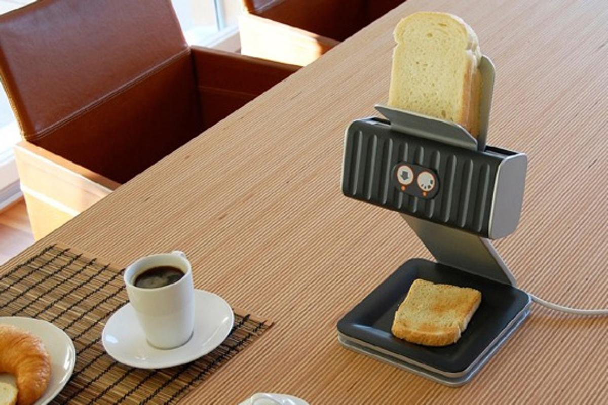 Printing Your Toast design concept from Othmar Muhlebach is designed to toast bread one slice at a time