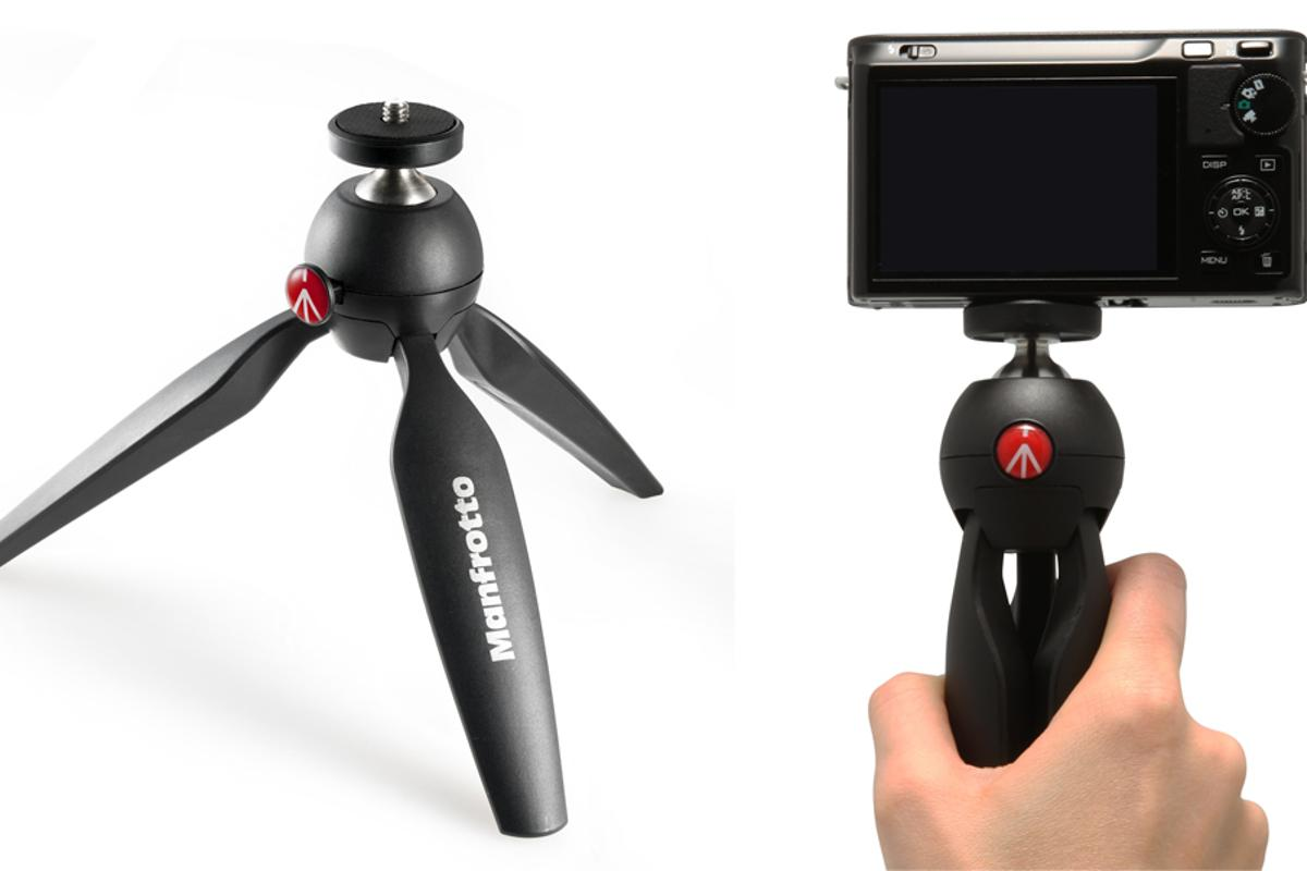 The Manfrotto Pixi is a small and portable tripod which can also be used as a video grip